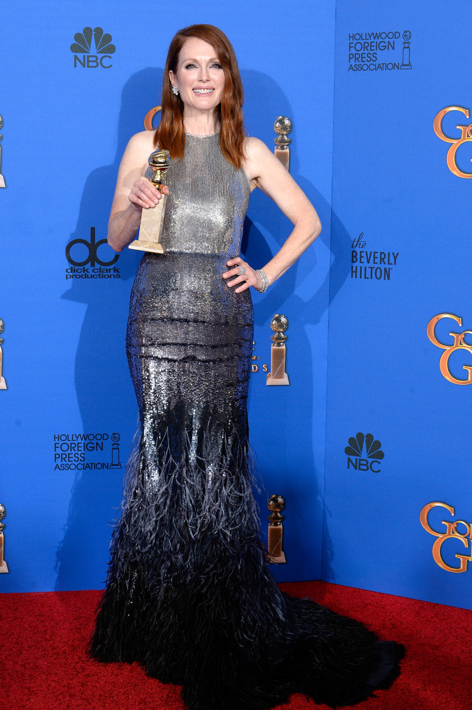 Julianne Moore, winner of the Golden Globe 2015 for the best drama actress