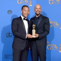 John Legend and Common, winners of the Golden Globe 2015 for the best song