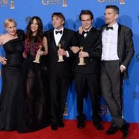 The team of 'Boyhood', winner of the Golden Globe 2015 for the best drama film