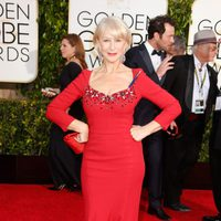 Helen Mirren at the Golden Globes 2015 red carpet