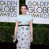 Keira Knightley at the Golden Globes 2015 red carpet