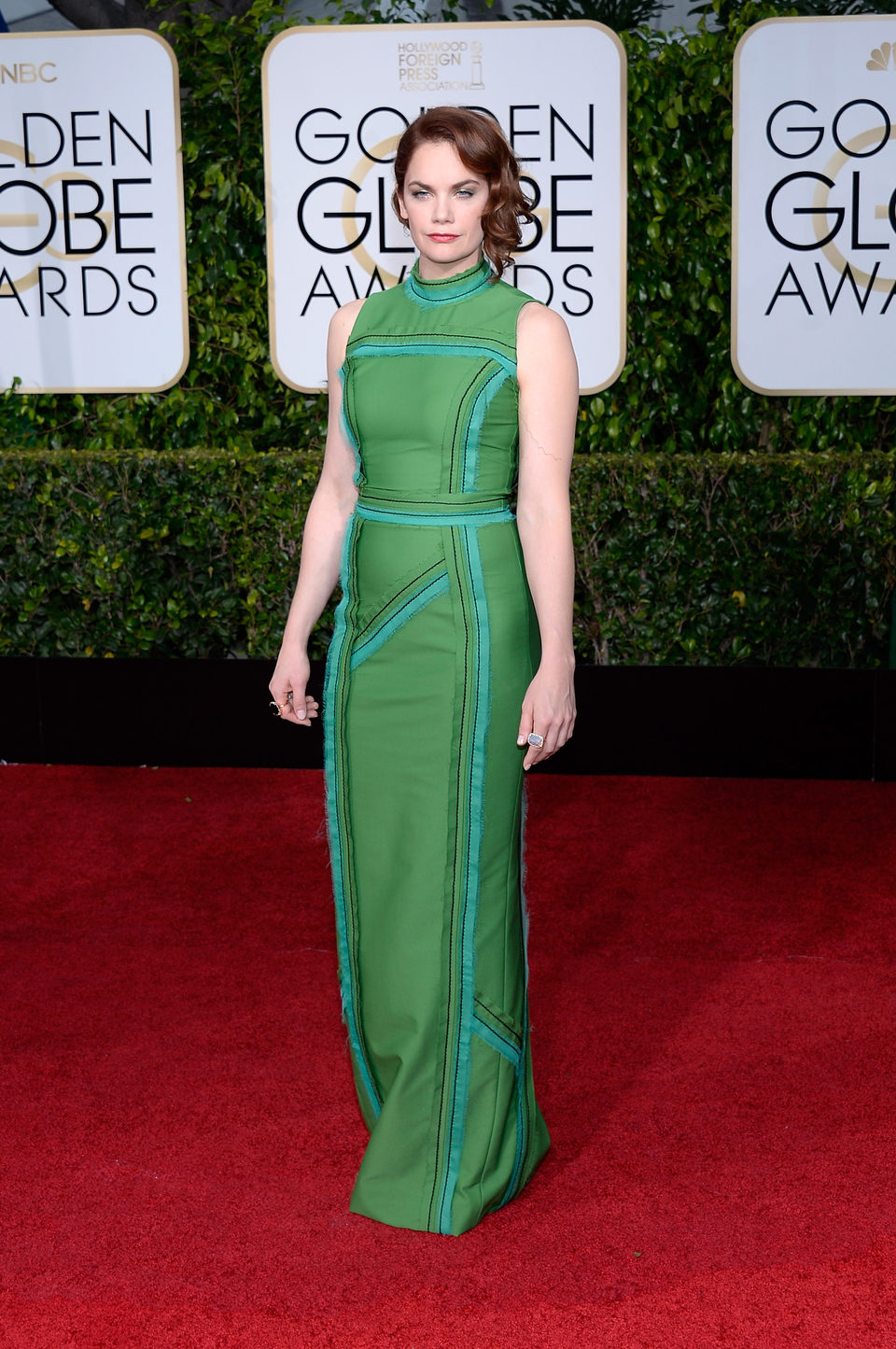 Ruth Wilson at the Golden Globes 2015 red carpet