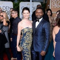 David and Jessica Oyelowo at the Golden Globes 2015 red carpet