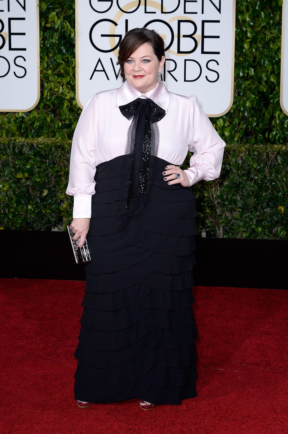 Melissa McCarthy at the Golden Globes 2015 red carpet