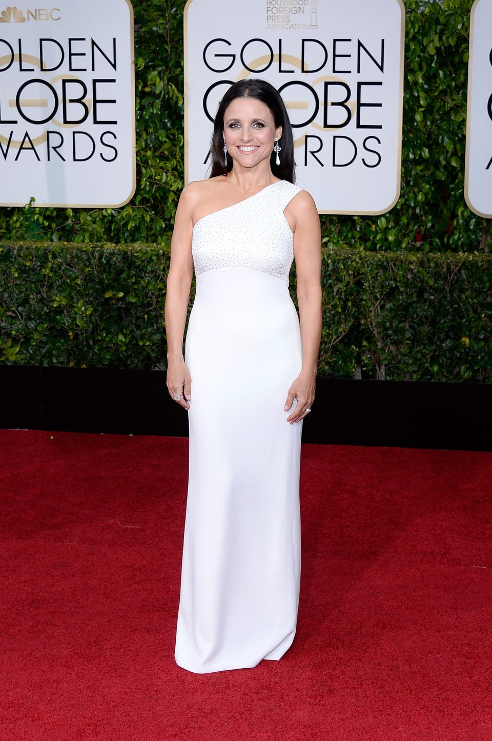 Julia Louis-Dreyfus at the Golden Globes 2015 red carpet