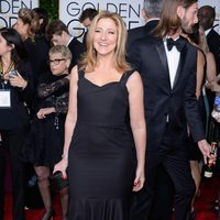 Edie Falco at the Golden Globes 2015 red carpet