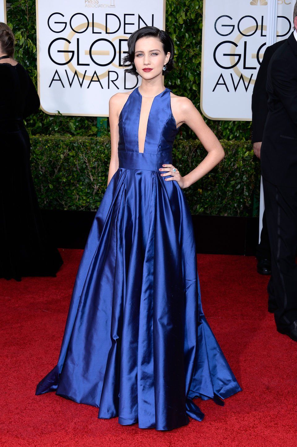 Julia Goldani Telles at the Golden Globes 2015 red carpet