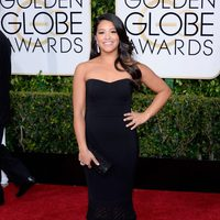 Gina Rodríguez at the Golden Globes 2015 red carpet
