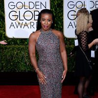 Uzo Aduba at the Golden Globes 2015 red carpet