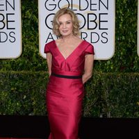 Jessica Lange at the Golden Globes 2015 red carpet
