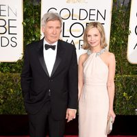 Harrison Ford and Calista Flockhart at the Golden Globes 2015 red carpet