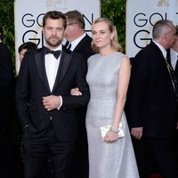Joshua Jackson and Diane Kurger at the Golden Globes 2015 red carpet