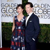Benedict Cumberbatch and Sophie Hunter at the Golden Globes 2015 red carpet