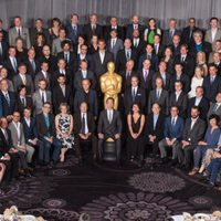 Family photograph at the Oscars' Nominees Luncheon 2015