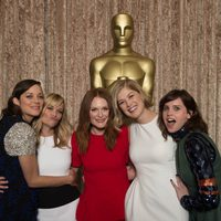 The Oscar 2015 candidates for the best actress statuette pose together at the Nominees Luncheon