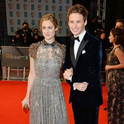 Eddie Redmayne and Hannah Bagshawe at the BAFTA 2015