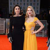Monica Bellucci y Léa Seydoux at the BAFTA 2015