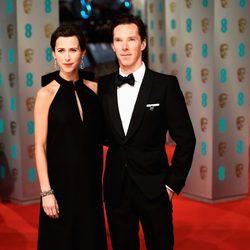 Benedict Cumberbatch at the Sophie Hunter en los BAFTA 2015