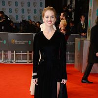 Alice Eve attends the red carpet at the BAFTA 2015
