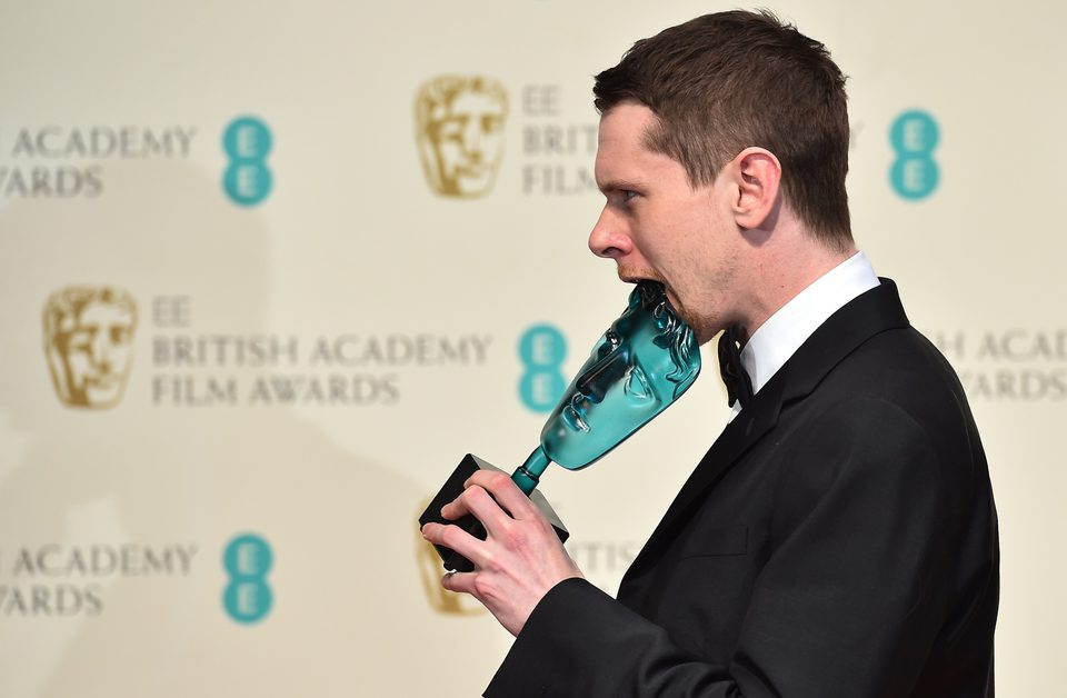 Jack O'Connel posses with his best rising star at the BAFTA 2015