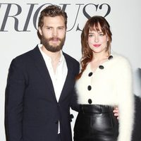Jamie Dornan and Dakota Johnson at the 'Fifty Shades of Grey' Fan Event in New York