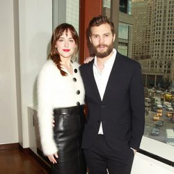 Dakota Johnson and Jamie Dornan at the 'Fifty Shades of Grey' presentation brunch