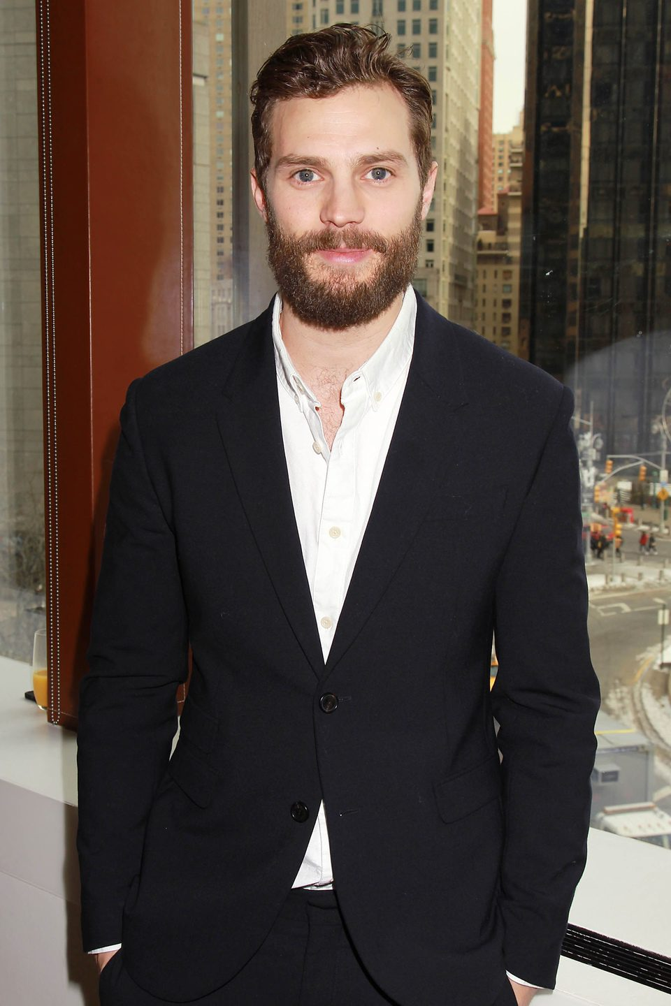 Jamie Dornan at the 'Fifty Shades of Grey' New York fan event