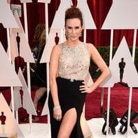Keltie Knight at the Oscars Awards 2015 red carpet