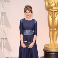 Agata Trzebuchowska at the Oscars Awards 2015 red carpet