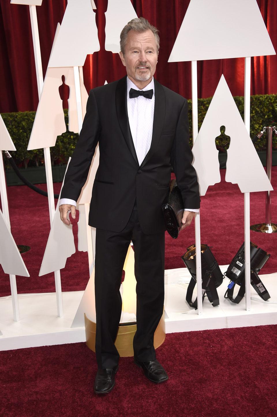 John Savage at the Oscars Awards 2015 red carpet