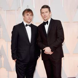 Richard Linklater and Ethan Hawke at the Oscar 2015