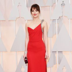 Dakota Johnson at the Oscars Awards 2015 red carpet