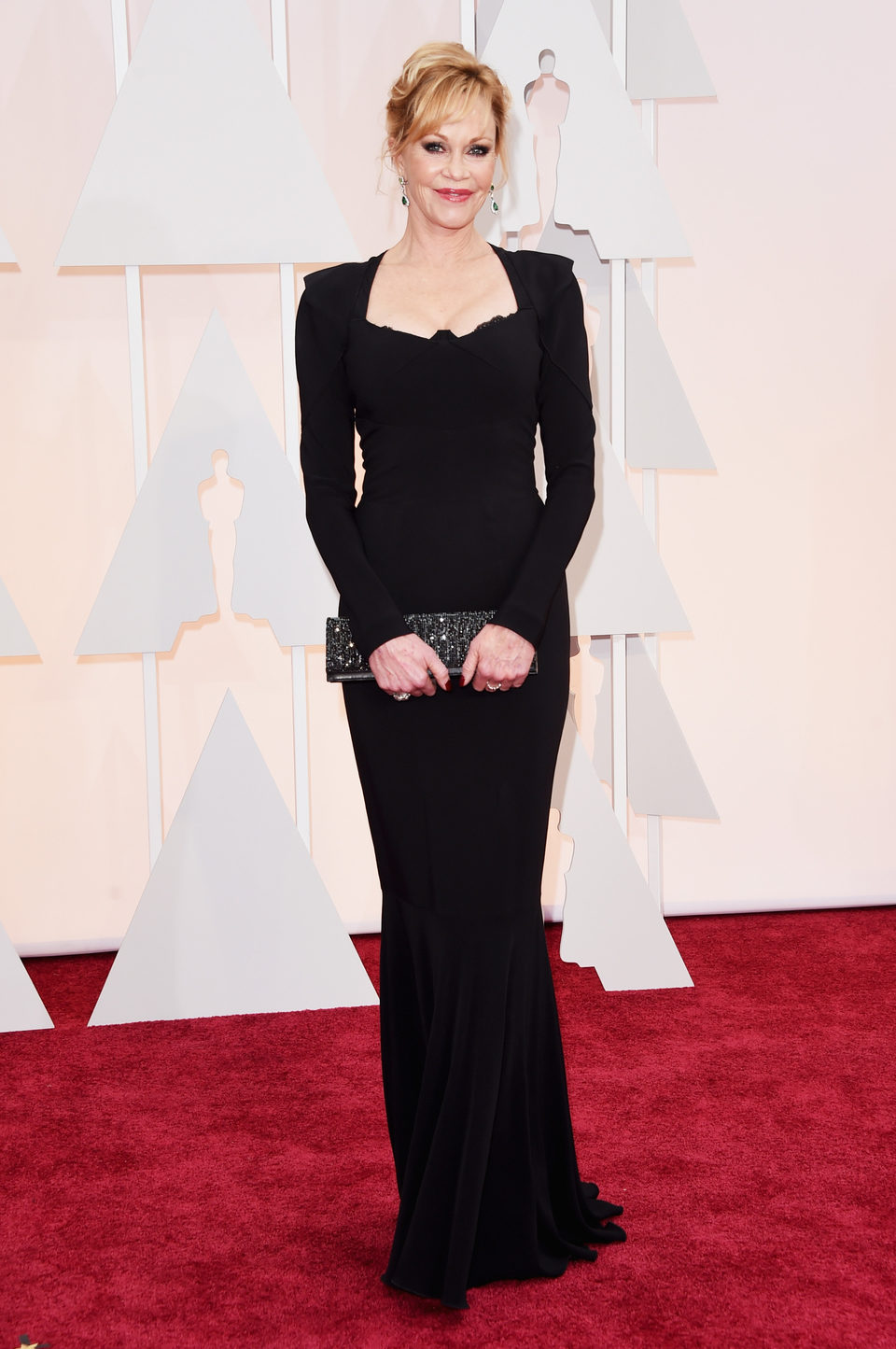 Melanie Griffith pose at the red carpet of the Oscar 2015