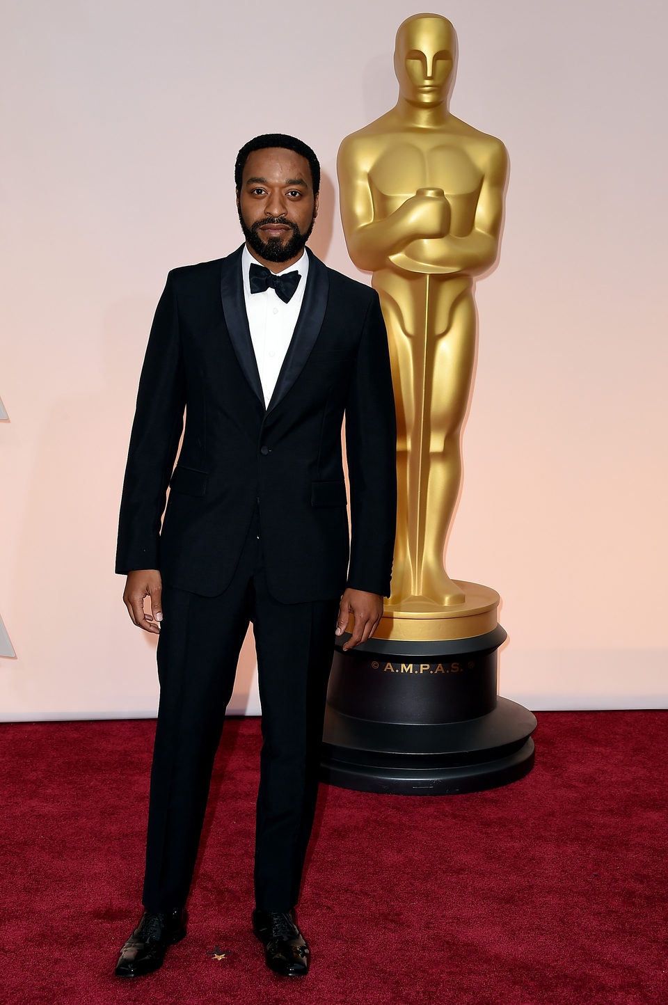 Chiwetel Ejiofor poses at the red carpet of the Oscar 2015