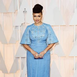 Ava DuVernay poses at the red carpet of the Oscar 2015