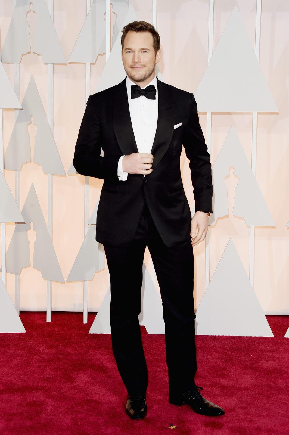 Chris Pratt at the Oscar 2015 red carpet