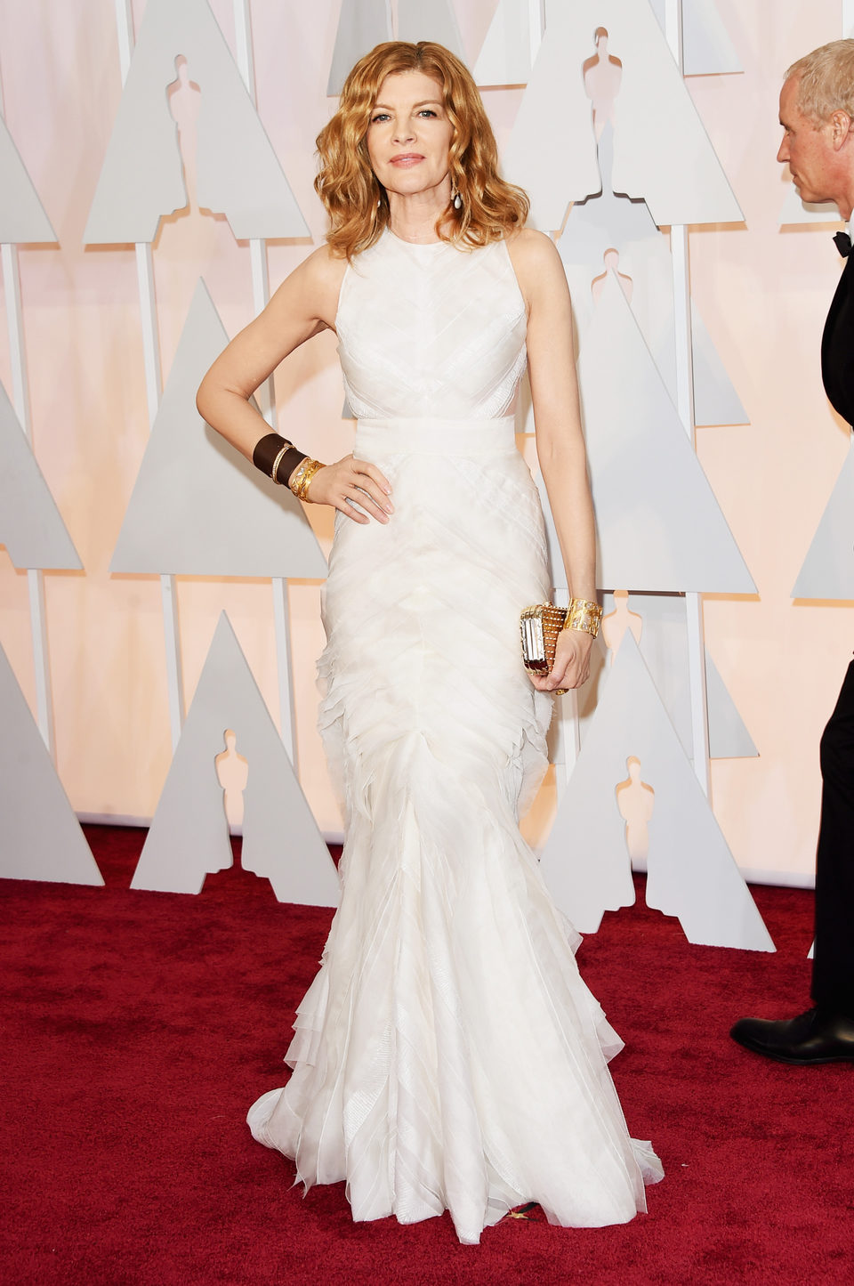 Rene Russo poses at the red carpet of the Oscar 2015