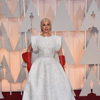 Lady Gaga at the Oscars Awards 2015 red carpet