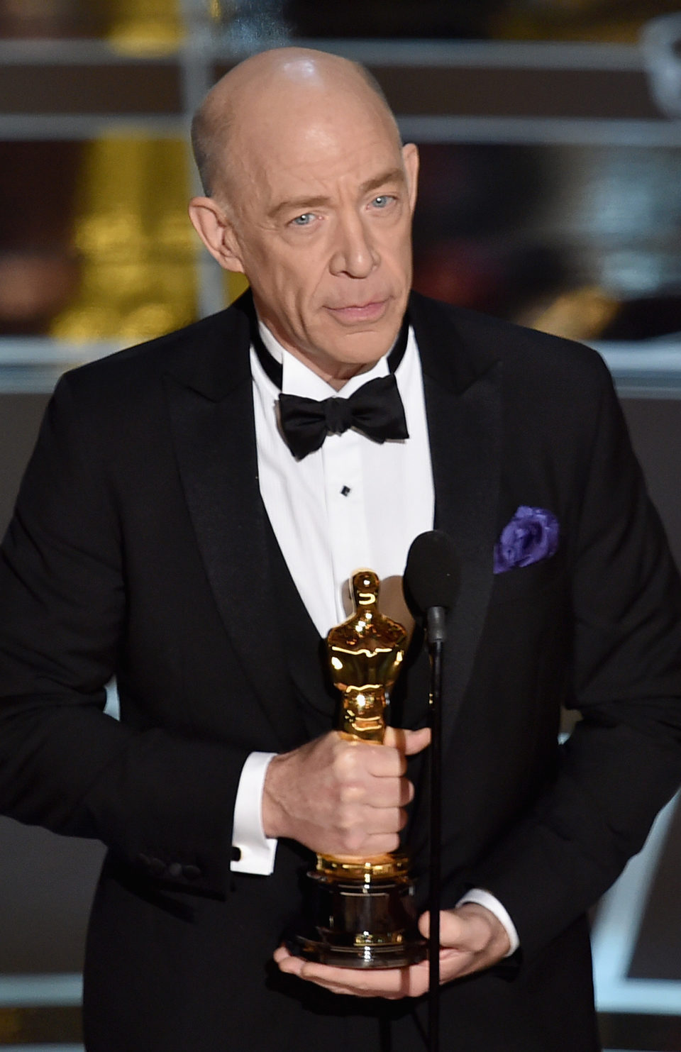 J.K. Simmons receives the Best Actor in a Supporting Role Oscar Award