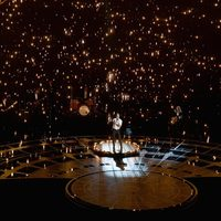 Adam Levine performing 'Lost Stars' at the Dolby Theatre
