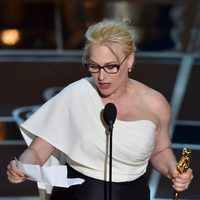 Patricia Arquette receives the Best Actress in a Supporting Role Oscar Award