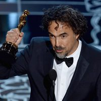 Alejandro González Iñárritu wins the Best Directo Award at the Oscars 2015