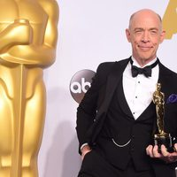 J.K. Simmons with his Best Actor in a Supporting role Oscar Award
