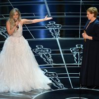 Lady Gaga and Julie Andrews share the stage of the Oscars 2015