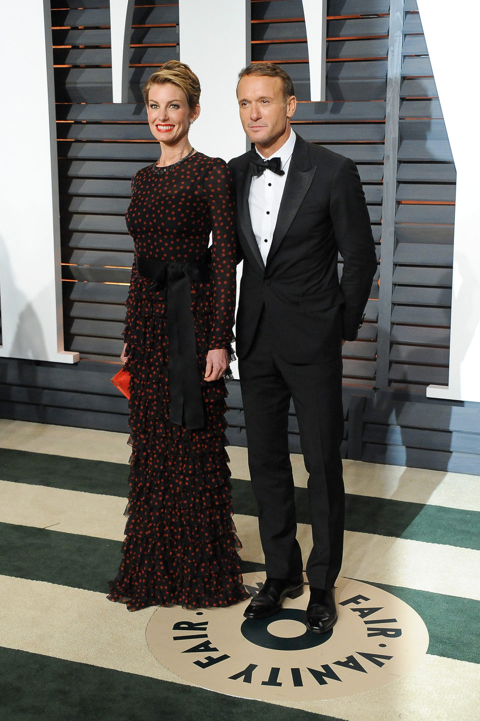 Tim McGraw and Faith Hill in the Oscar 2015 red carpet