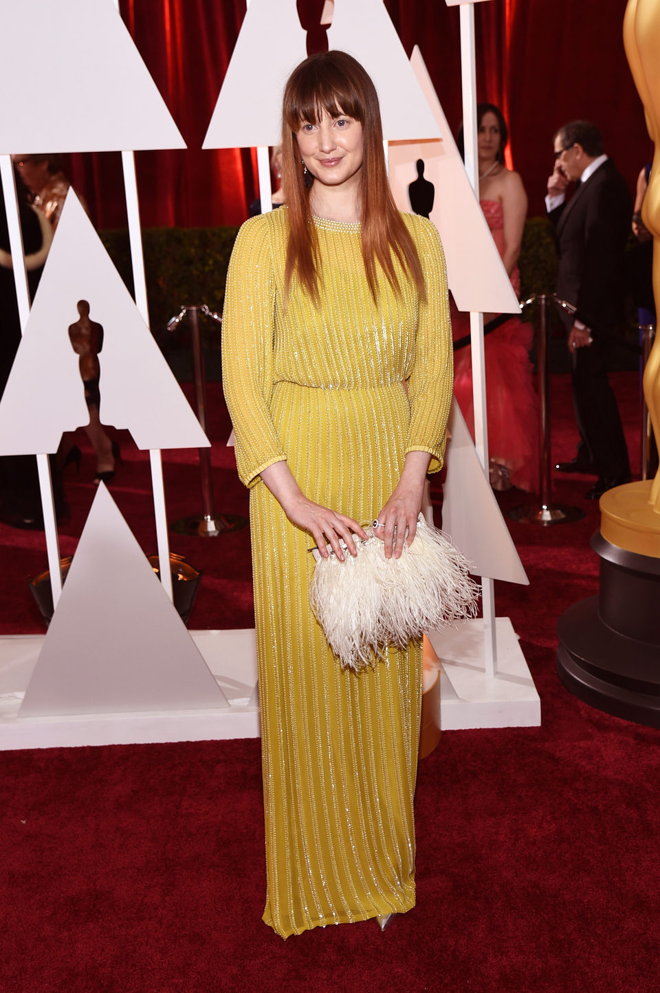 Andrea Riseborough posses in the Oscar 2015 red carpet
