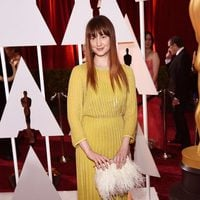 Andrea Riseborough posses in the Oscar 2015 red carpet