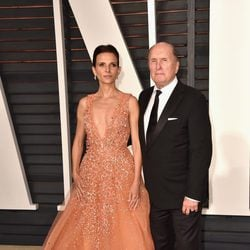 Robert Duval and his wife in the Oscar 2015 red carpet