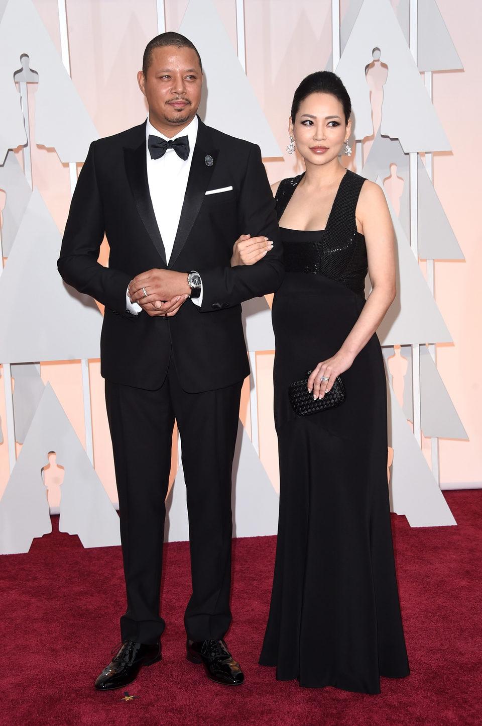 Terrence Howard and Miranda Howard in the Oscar 2015 red carpet