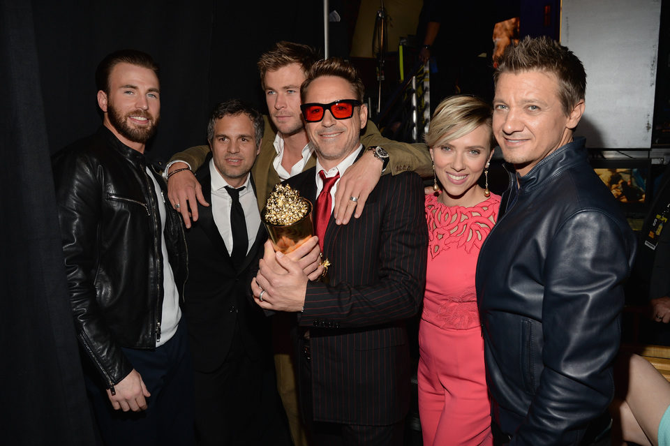 'The Avengers: Age of Ultron' cast during MTV Movie Awards 2015